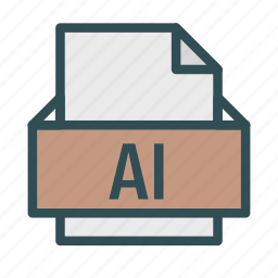 adobe, computer, extension, file, illustrator, pc icon
