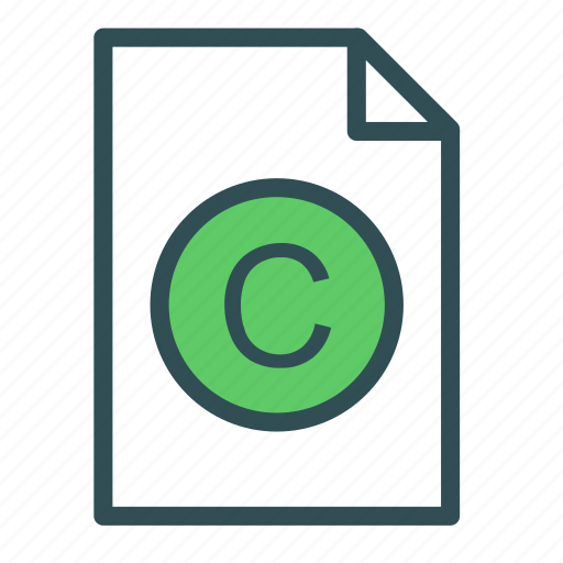 c, extension, file, language, programming icon