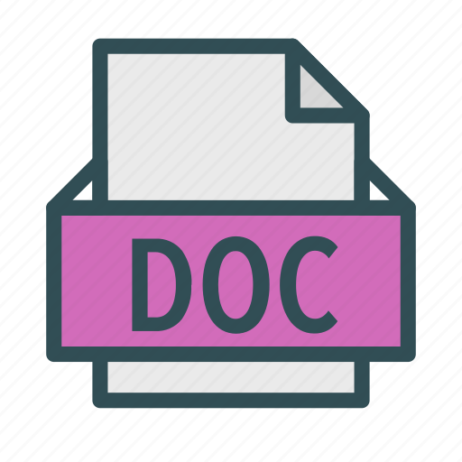 doc, extension, file, microsoft, text, word icon