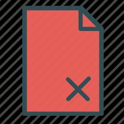 cancel, computer, file, pc, remove icon