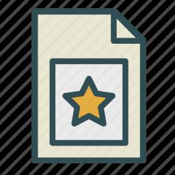 computer, fav, favorite, file, pc, star icon