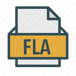 animation, extension, file, fla, flash icon