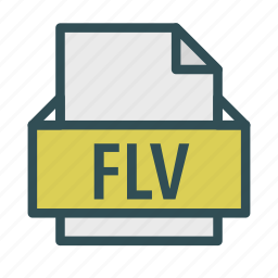 extension, file, flash, flv, video icon