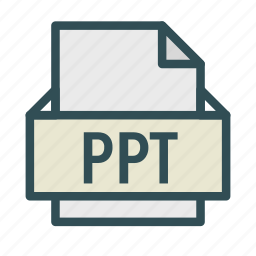 extension, file, point, power, ppt icon