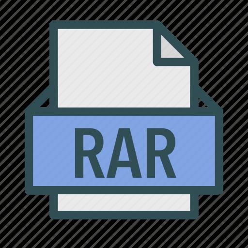 archive, extension, file, rar, winrar icon