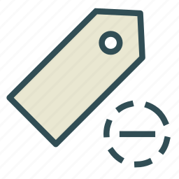 minus, price, remove, sign, tag icon