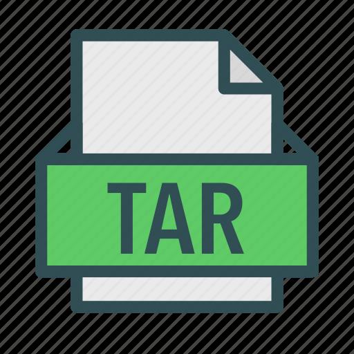 archive, extension, file, linux, tar, unix icon