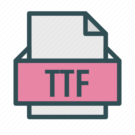 apple, extension, file, font, mac, ttf icon