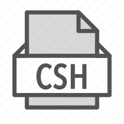 adobe, csh, extension, file, photoshop icon