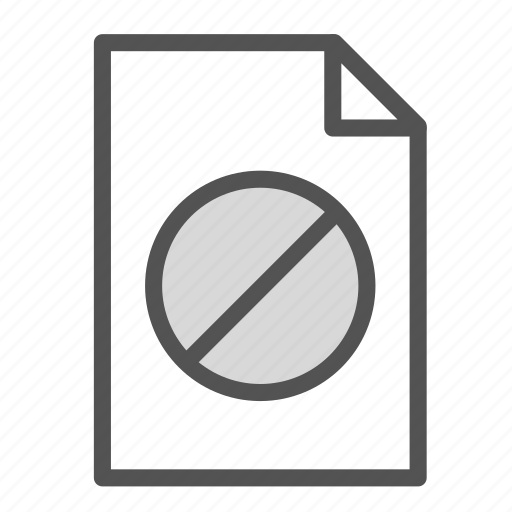 computer, denied, file, not, pc icon