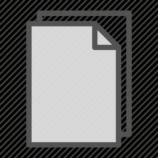 computer, copy, double, file, pc icon