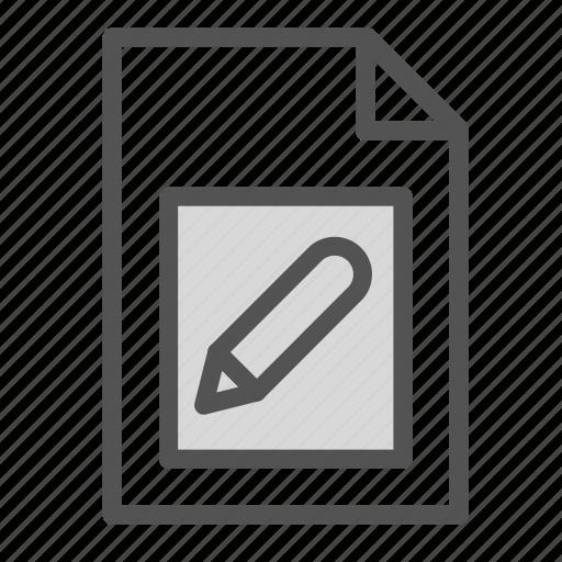 computer, edit, file, pc, pen icon