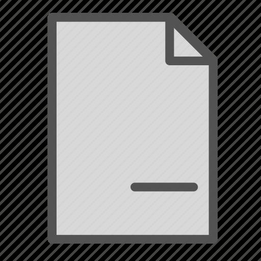 computer, file, minus, pc, remove icon