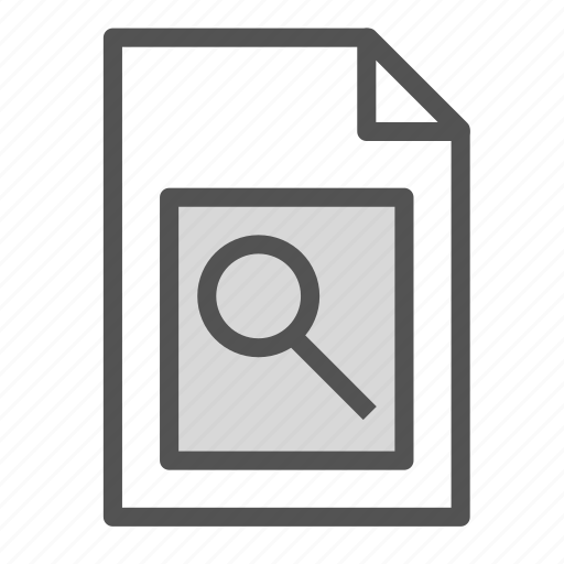 computer, file, glass, magnifying, pc, search icon