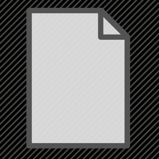 computer, empty, file, pc icon