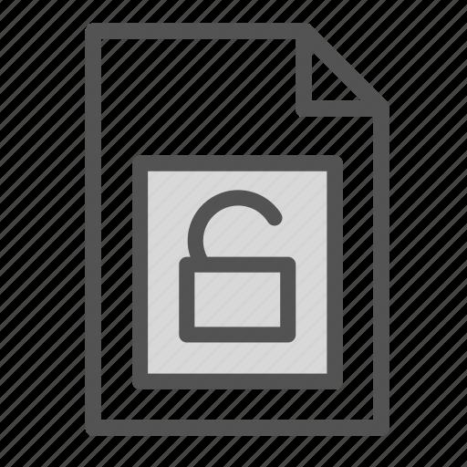 computer, file, key, pc, unlock icon