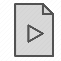 computer, file, media, pc, play, video icon