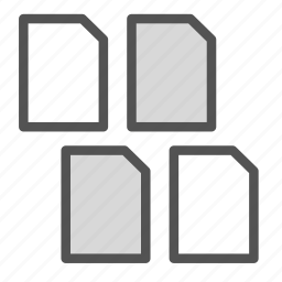 computer, copy, files, mac, multiply, pc icon