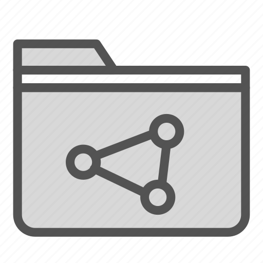 computer, connection, folder, network, pc, sign icon