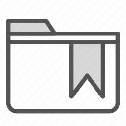 computer, folder, pc, ribbon, tag icon