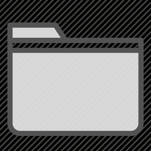 computer, empty, folder, pc, simple icon