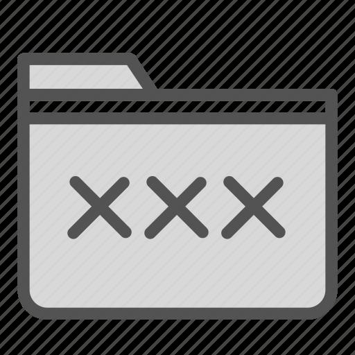 computer, folder, pc, xxx icon