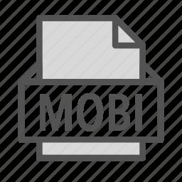 amazon, extension, file, kindle, mobi icon