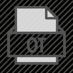 extension, file, open, ot, teacher icon