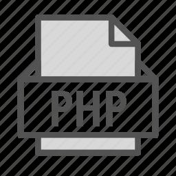 extension, file, language, php, programming icon