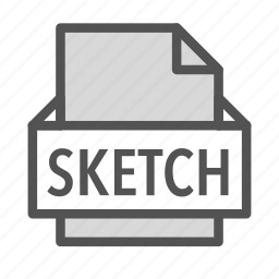 drawing, extension, file, mac, sketch icon