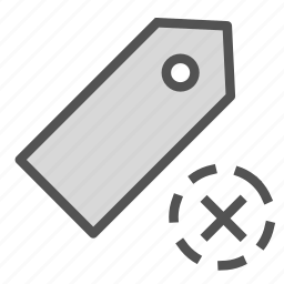 multiply, price, sign, tag icon