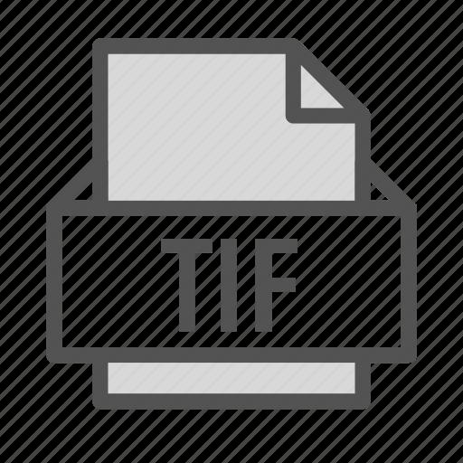 adobe, extension, file, image, tif icon