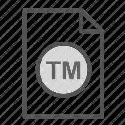 extension, file, scholarometer, tm, trademark icon