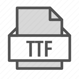 apple, extension, file, font, mac, ttf icon