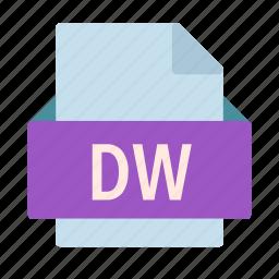 adobe, dreamweaver, dw, extension, file icon