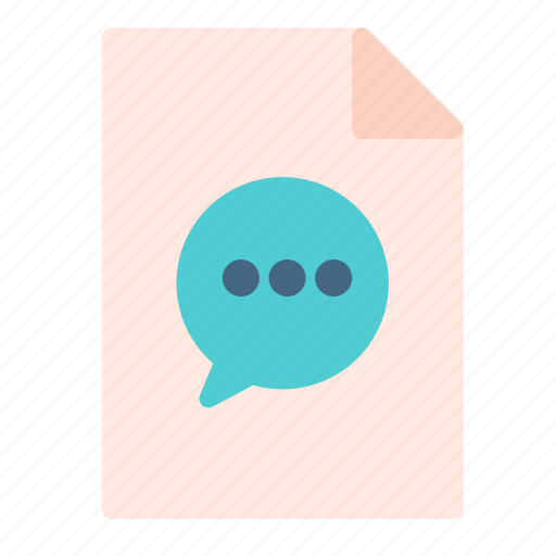 bubble, chat, computer, file, pc icon
