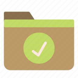 approved, computer, folder, ok, pc, sign icon