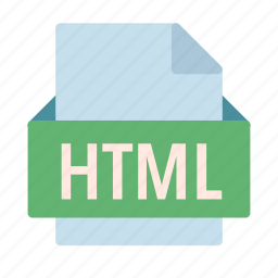 extension, file, html, language, programming icon