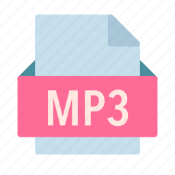 audio, extension, file, mp3, music icon