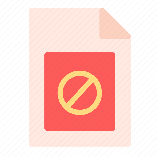 denied, extension, file, not icon