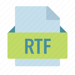 extension, file, format, rich, rtf, text icon