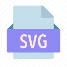 extension, file, graphics, scalable, svg, vector icon