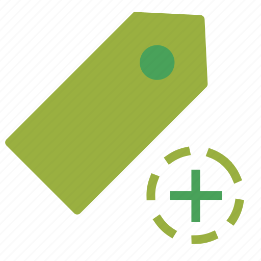 add, plus, price, sign, tag icon