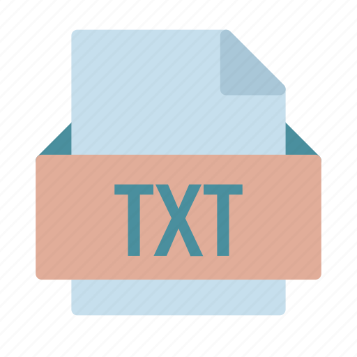 extension, file, text, txt, wordpad icon