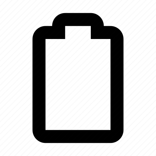 battery, charging, electricity, empty icon