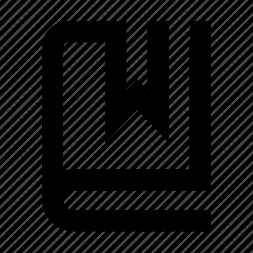 book, bookmark, learn, repository icon