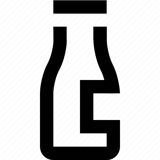 bottle, drink, ketchup, milk icon
