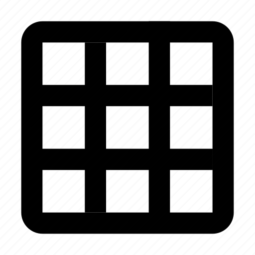 checkers, distribute, grid, layout icon