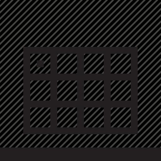 board, calendar, rectangle icon