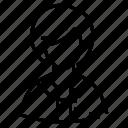 avatar, female, person, staff icon